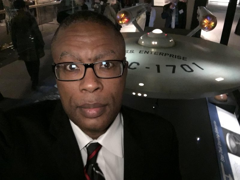 Selfie with the USS ENTERPRISE