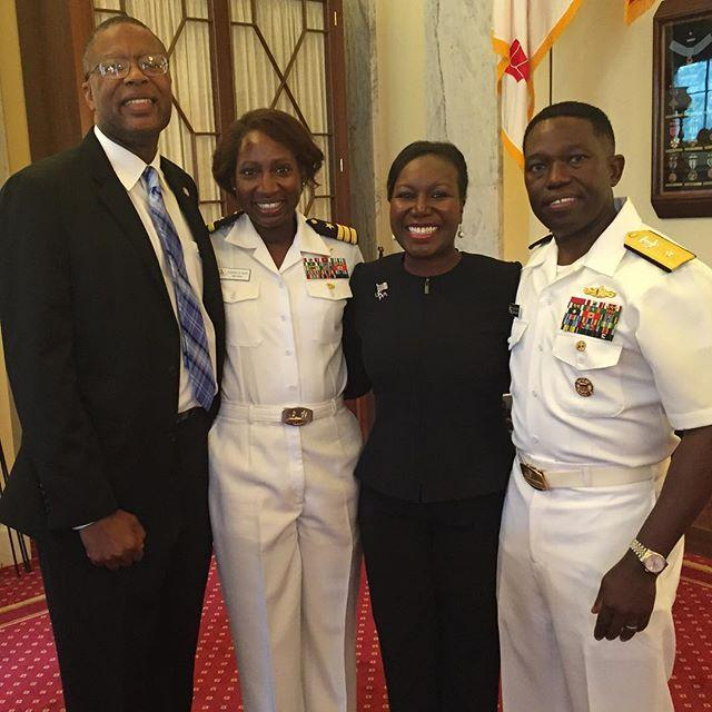 Congratulations Rear Admiral and Mrs. Pringle
