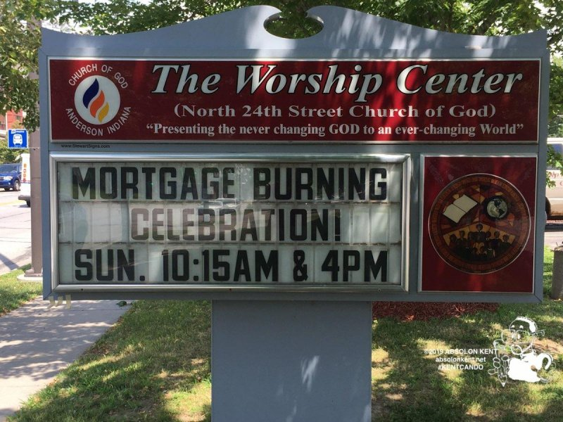 Worship Center Mortgage Burning