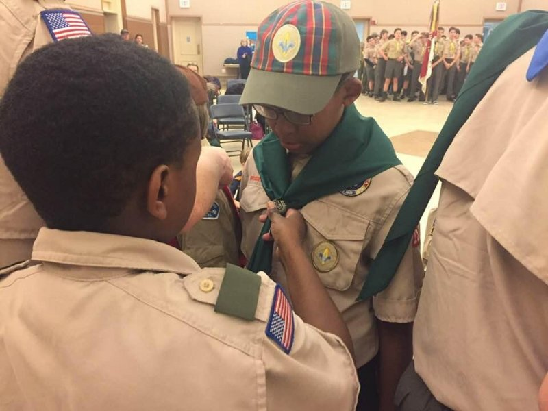 Boy Scout Bridging Ceremony