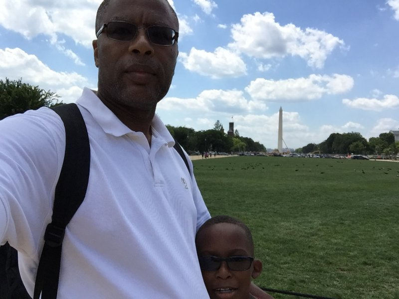 With Little Kent 2 on the National Mall