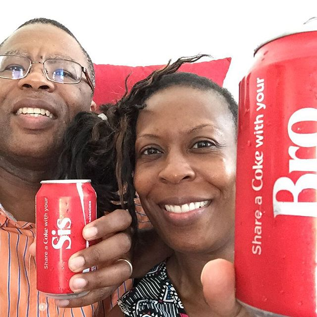 Sharing a Coke with my Baby Sis