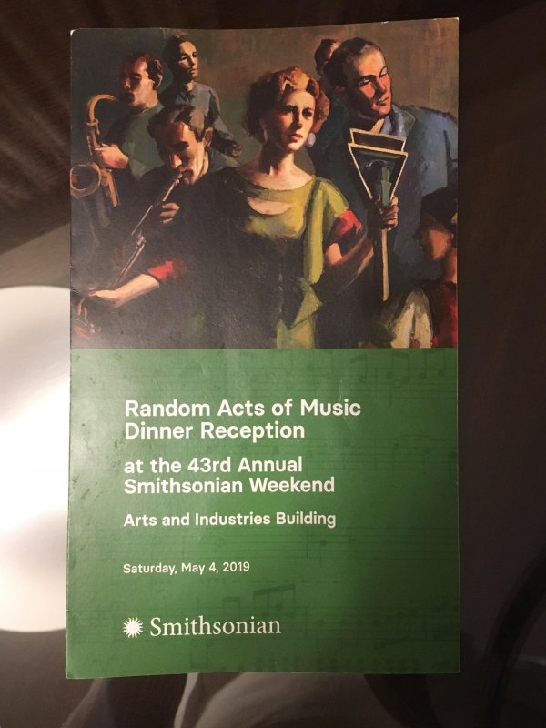 Random Acts of Music Smithsonian Dinner Reception