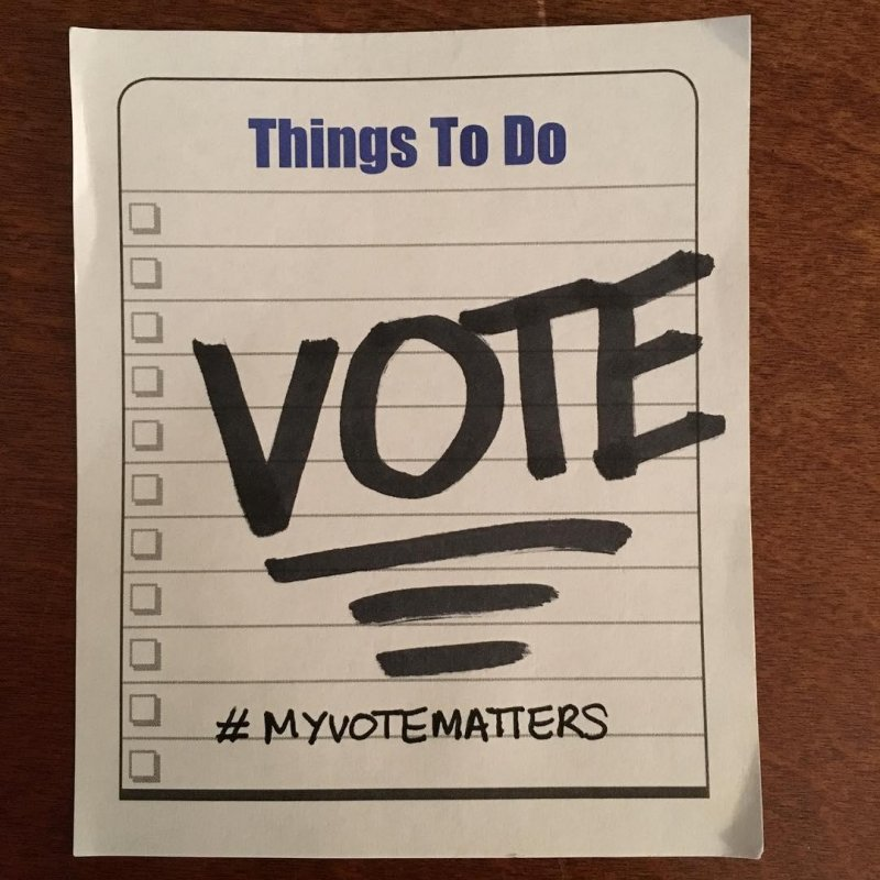 My VOTE is my VOICE! #ICare #IMatter #IVote #election2016 #MyVoteMatters #SSUAlumni