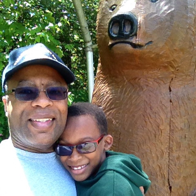 BERGTON, Va. — Out for a hike with Little Kent 2 during the Capital Baptist Church Family Camping Weekend at Highland Retreat in Bergton, Va.